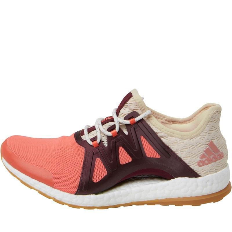 adidas pureboost xpose clima scarpe da corsa semplice coral / lino / bordeaux