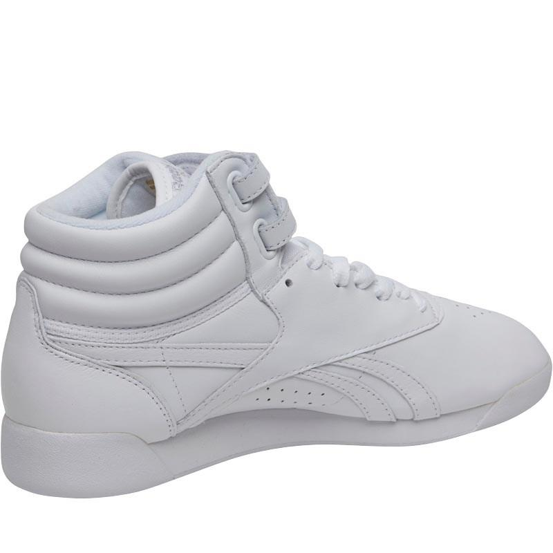 62f63960529 Reebok Freestyle Hi Og Lux Trainers White grey gold excellent Red in ...