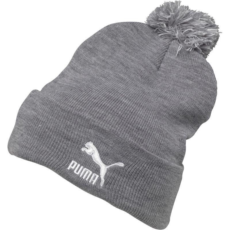 PUMA Core Knit Bobble Hat Grey white in Gray - Lyst 42d7c98a810
