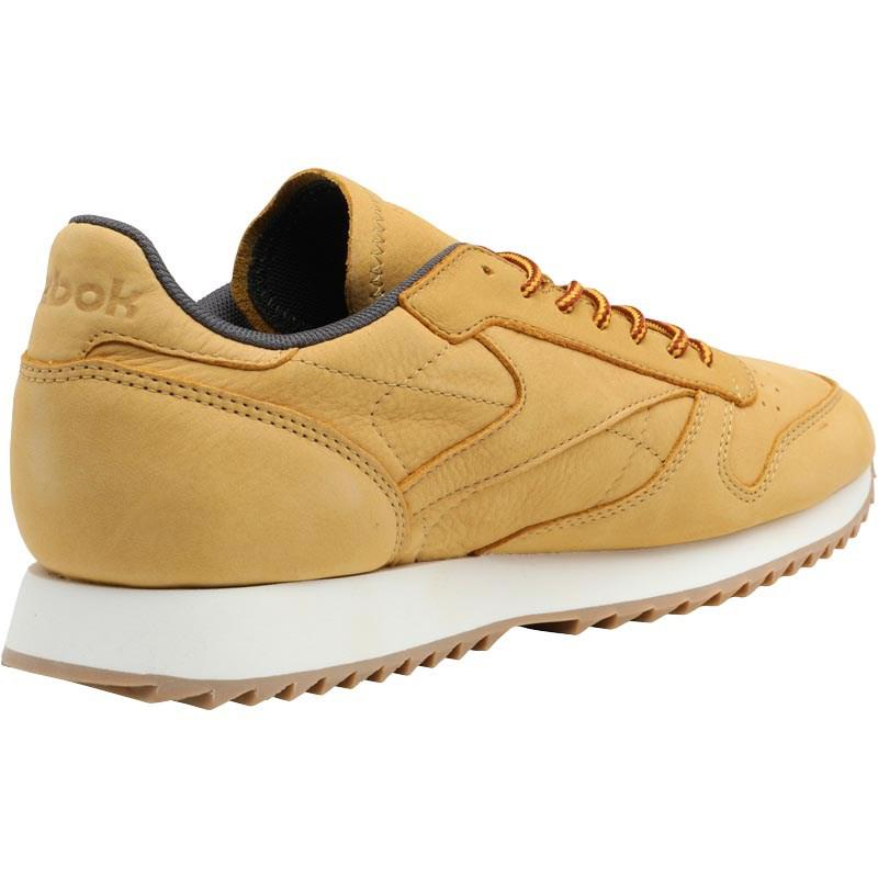 d331f719c47b8 Reebok Classic Leather Ripple Wp Trainers Golden Wheat urban Grey ...
