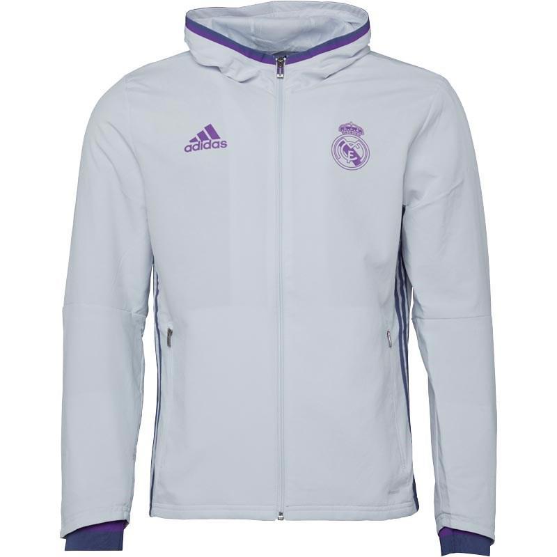 adidas Rmcf Real Madrid Presentation Jacket Crystal White super ... ed40af72e2