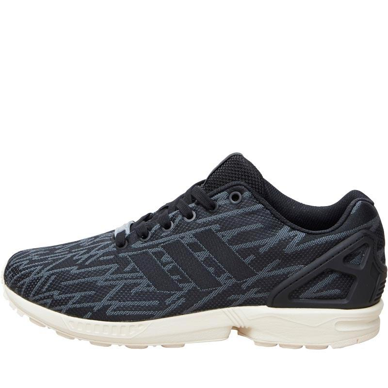 40bcebb39 ... usa adidas originals zx flux weave trainers core black light onix white  4718b 9ac39