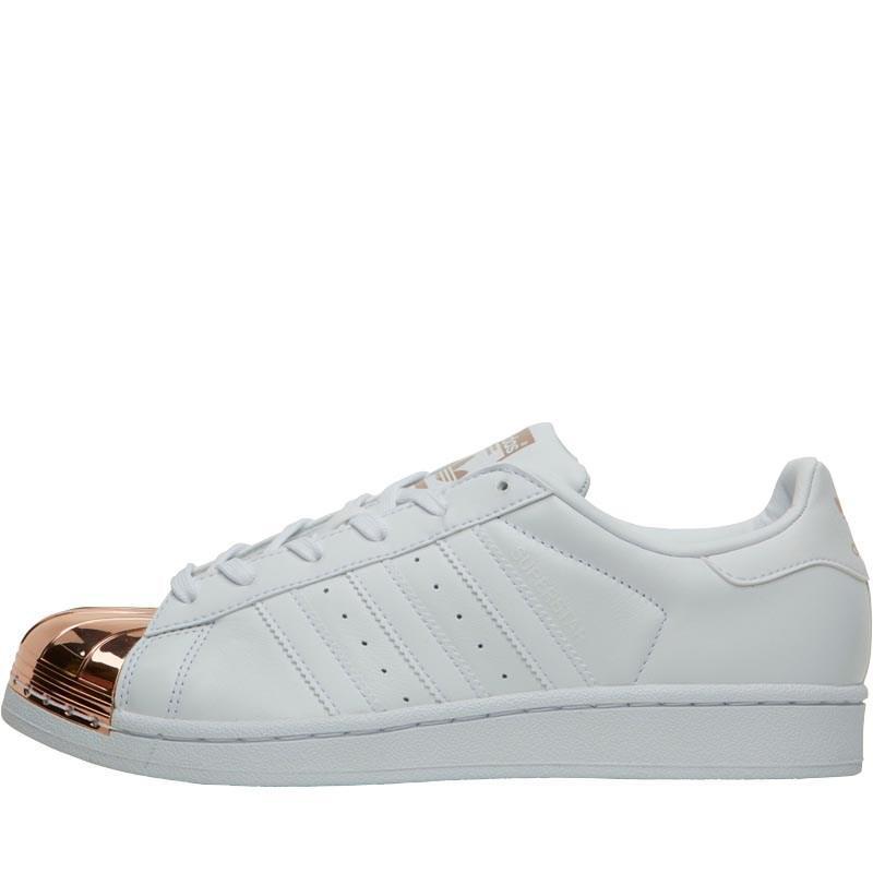 adidas superstar di metallo bianco / formatori originali della luce di rame