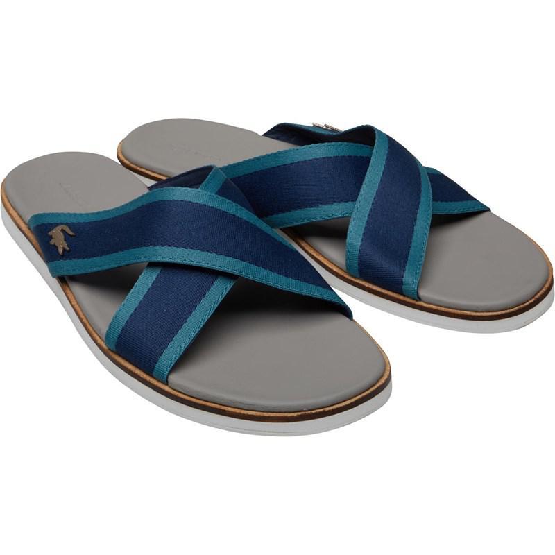 Men Navygreen In For Lyst Lacoste Coupri Blue Sandals Cam tzwt0xqT