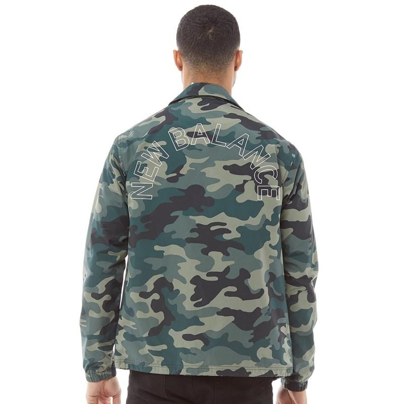 b83a77788c0c New Balance Printed Coaches Jacket Black Camo in Green for Men - Lyst
