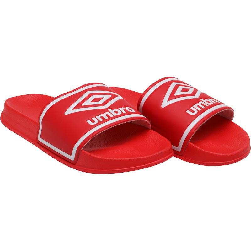 af47c808c6567 Umbro - Beach Pool Sliders Hibiscus Red white for Men - Lyst. View  fullscreen