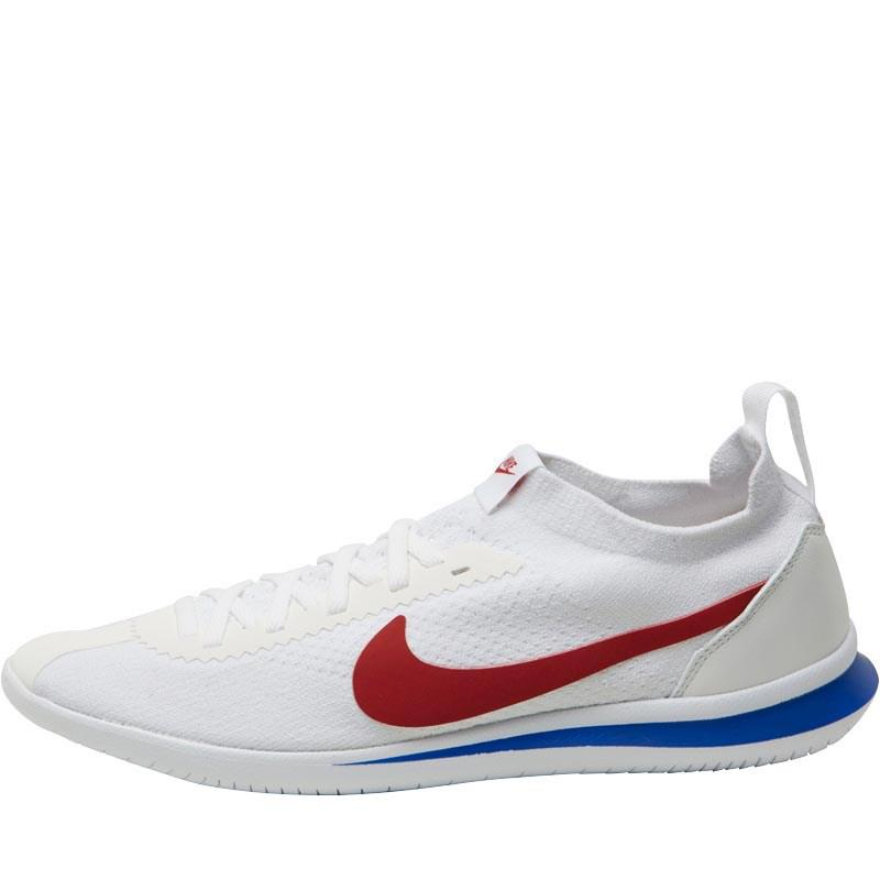 733848d48507 Nike Cortez Flyknit Trainers White varsity Royal varsity Red in ...