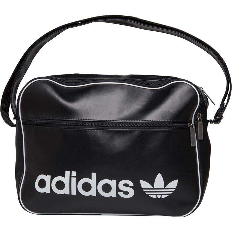 752cf67c099c Adidas Originals Vintage Airliner Bag Black in Black - Lyst