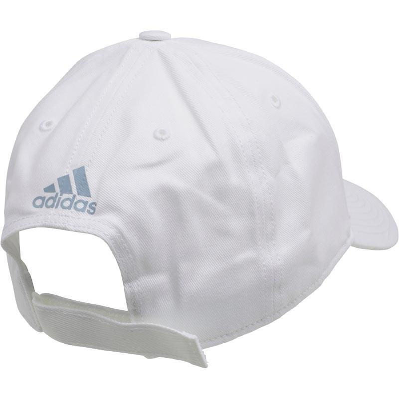 adidas 5 Panel Classic Linear Logo Cap White white tactical Blue in ... adcab286681