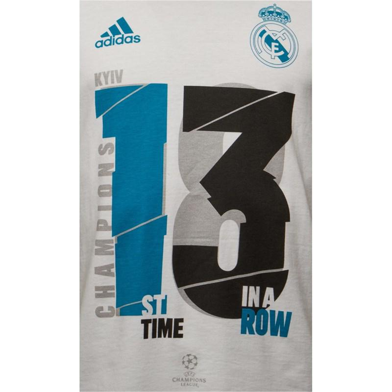 68ee02fef Adidas - Rmcf Real Madrid 13x Ucl Winners T-shirt White for Men - Lyst.  View fullscreen