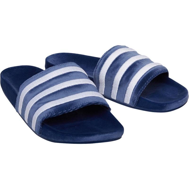 e78b4a81fe2d2 adidas Originals. Men s Adilette Slide Sandals Mystery Blue footwear White footwear  White