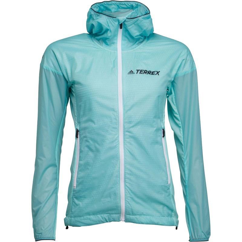 2f8b2c6d9c3a3 adidas. Women s Blue Terrex Agravic Alpha Hooded Shield Windbreaker Jacket  ...