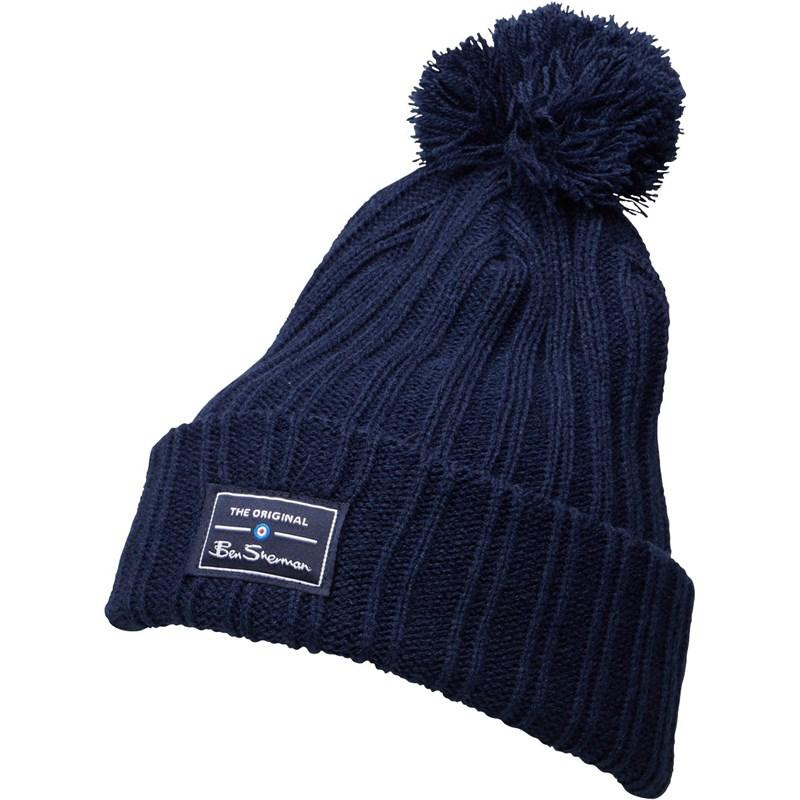 Ben Sherman Mccree Bobble Hat Navy in Blue for Men - Lyst fa2c062c8a16