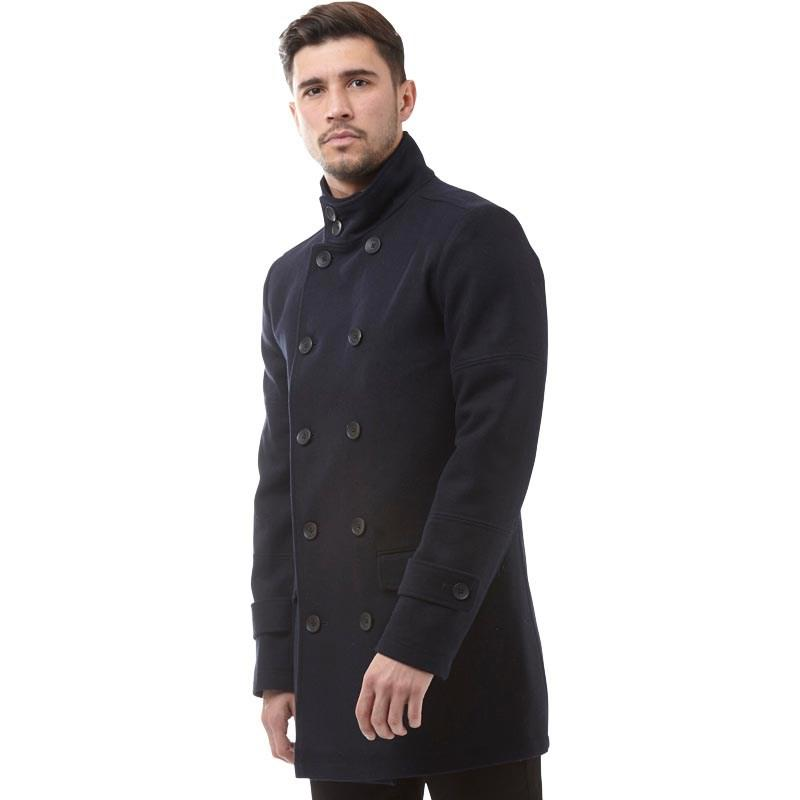 136489f5ca8 French Connection Db Funnel Wool Jacket Marine in Blue for Men - Lyst