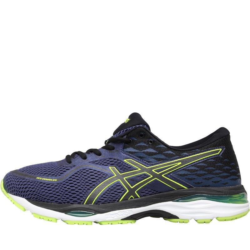 33bd01a4c536 Asics Gel Cumulus 19 Neutral Running Shoes Indigo Blue/black/safety ...