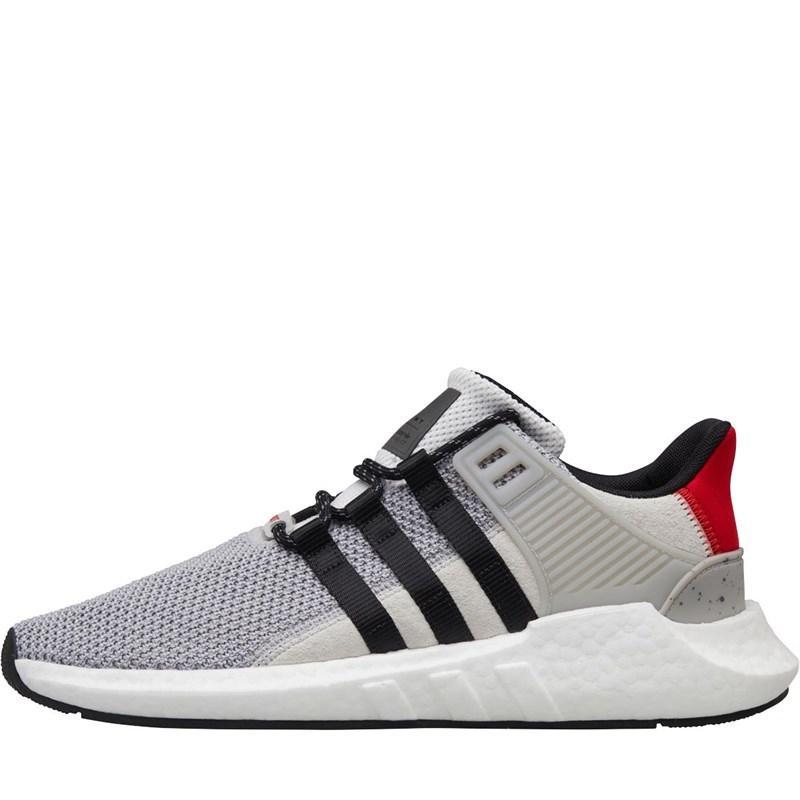 c3ceb2badb adidas Originals. Men s Gray Eqt Support 93 17 Trainers Grey Two core Black  scarlet