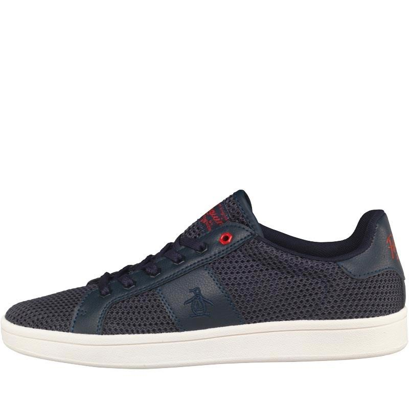 Original Penguin Steadman Mesh Trainers Navy - Men's Shoes
