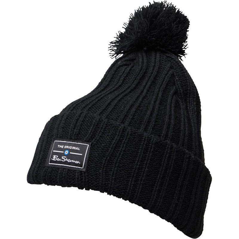 c52d644ebea Ben Sherman Mccree Bobble Hat Black in Black for Men - Lyst