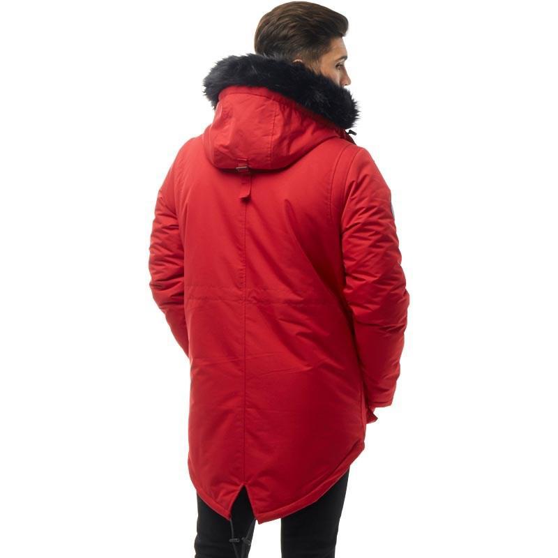 1ad0bebf70752 Bellfield - Nimrod Fur Lined Parka Red for Men - Lyst. View fullscreen