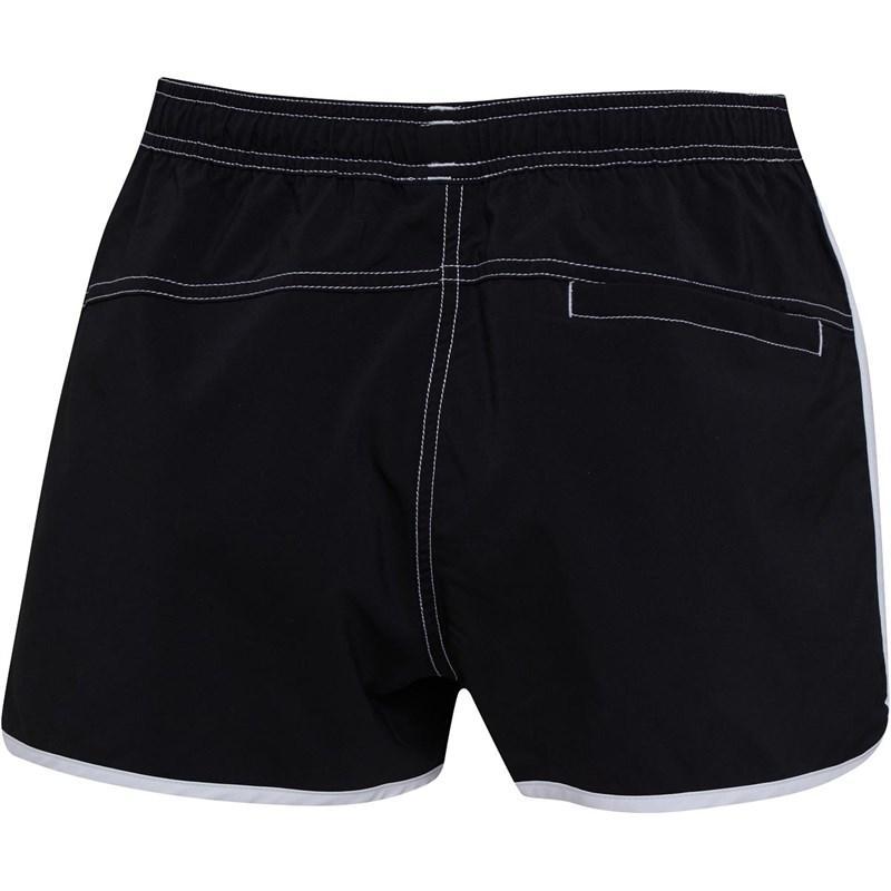 468437bc66 Adidas Beach Essentials 3 Stripe Shorts Black/white in Black - Lyst