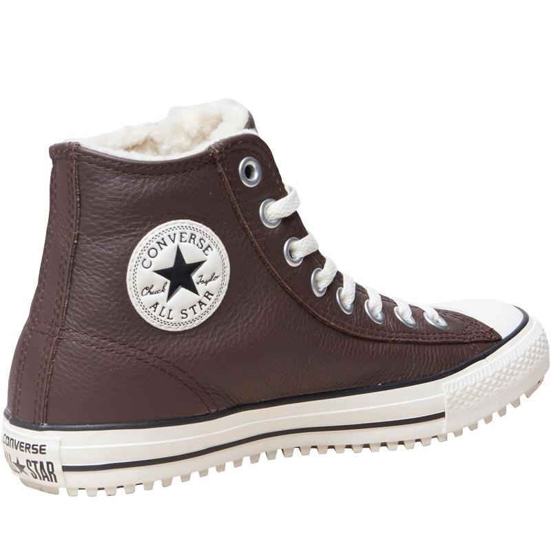 568415841d37 Converse Ct All Star Hi Street Leather Trainers Burnt Umber white in ...