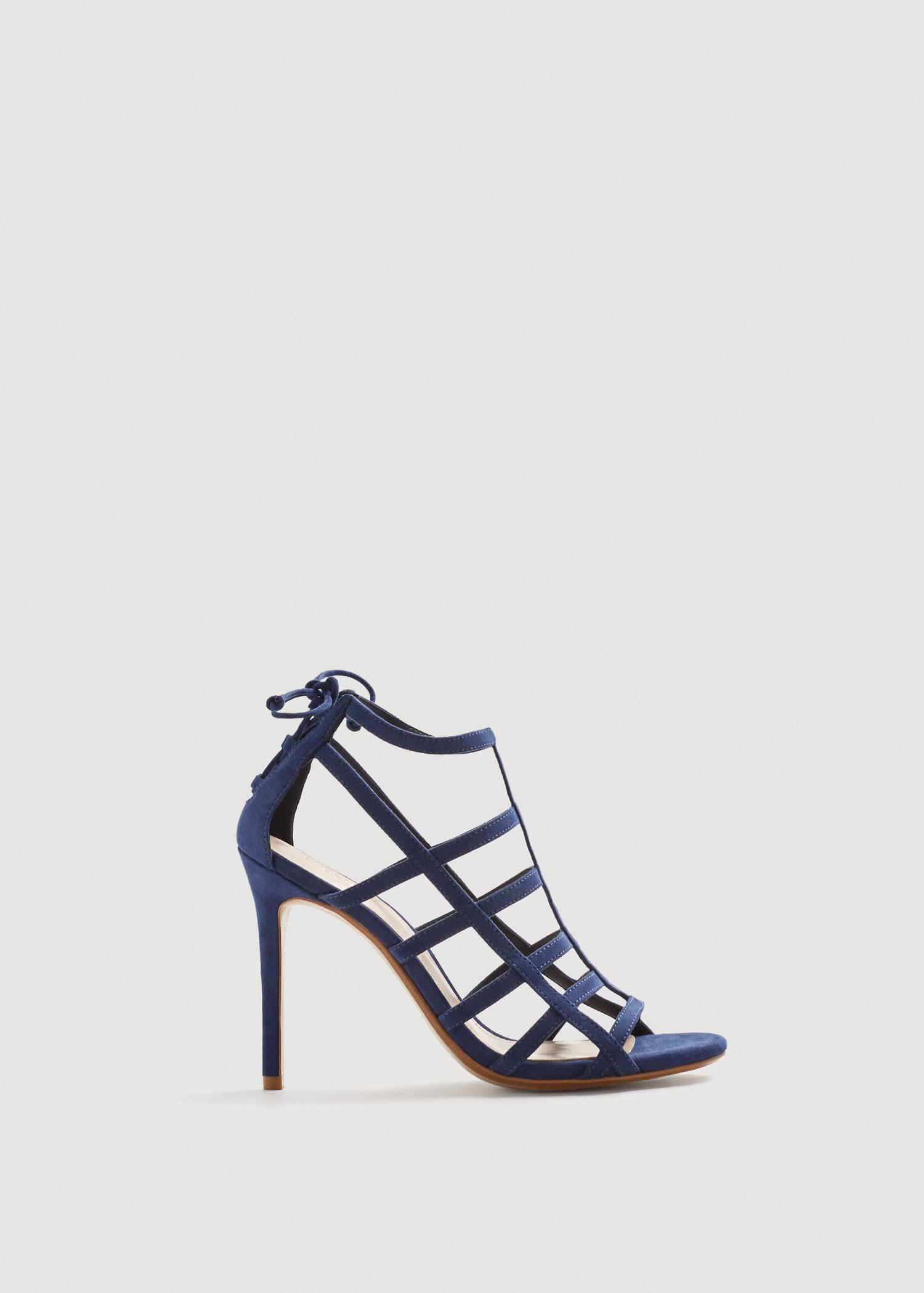 d9ed405f4d6 Lyst - Mango Strappy Heeled Sandals in Blue