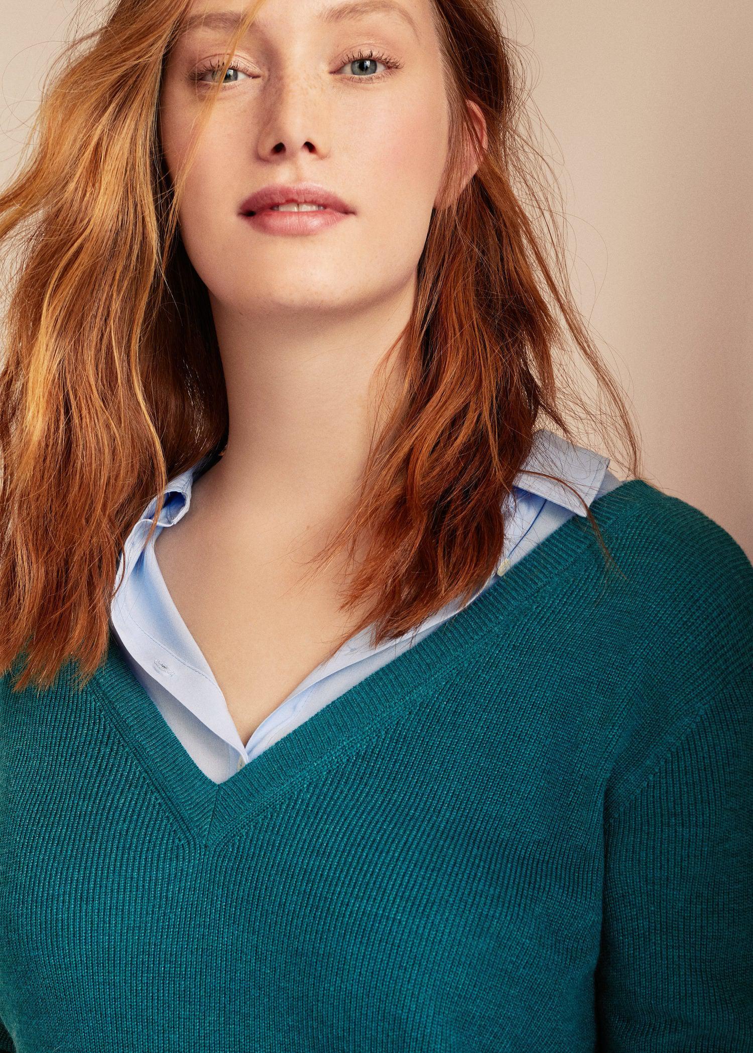 76f22e9b9b1 Violeta By Mango Fine-knit Sweater in Green - Lyst