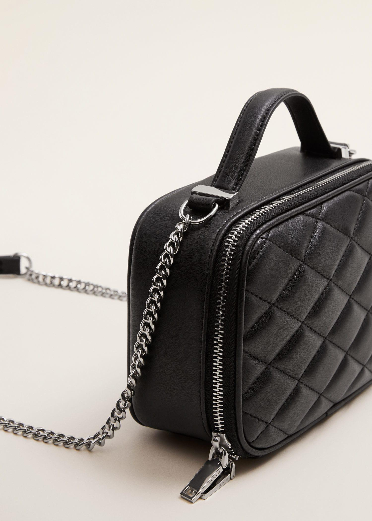 Lyst Mango Quilted Chain Bag In Black