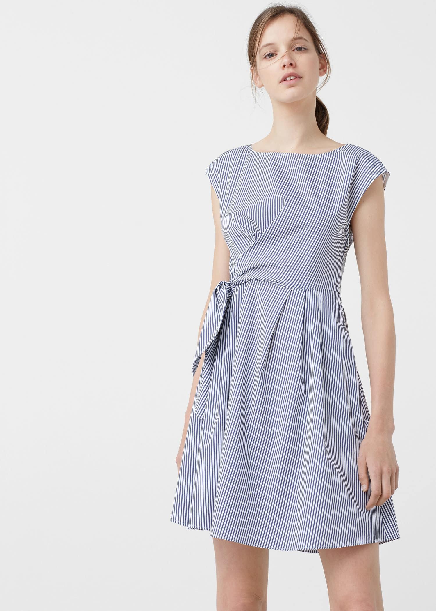 Lyst Mango Poplin Dress In Blue