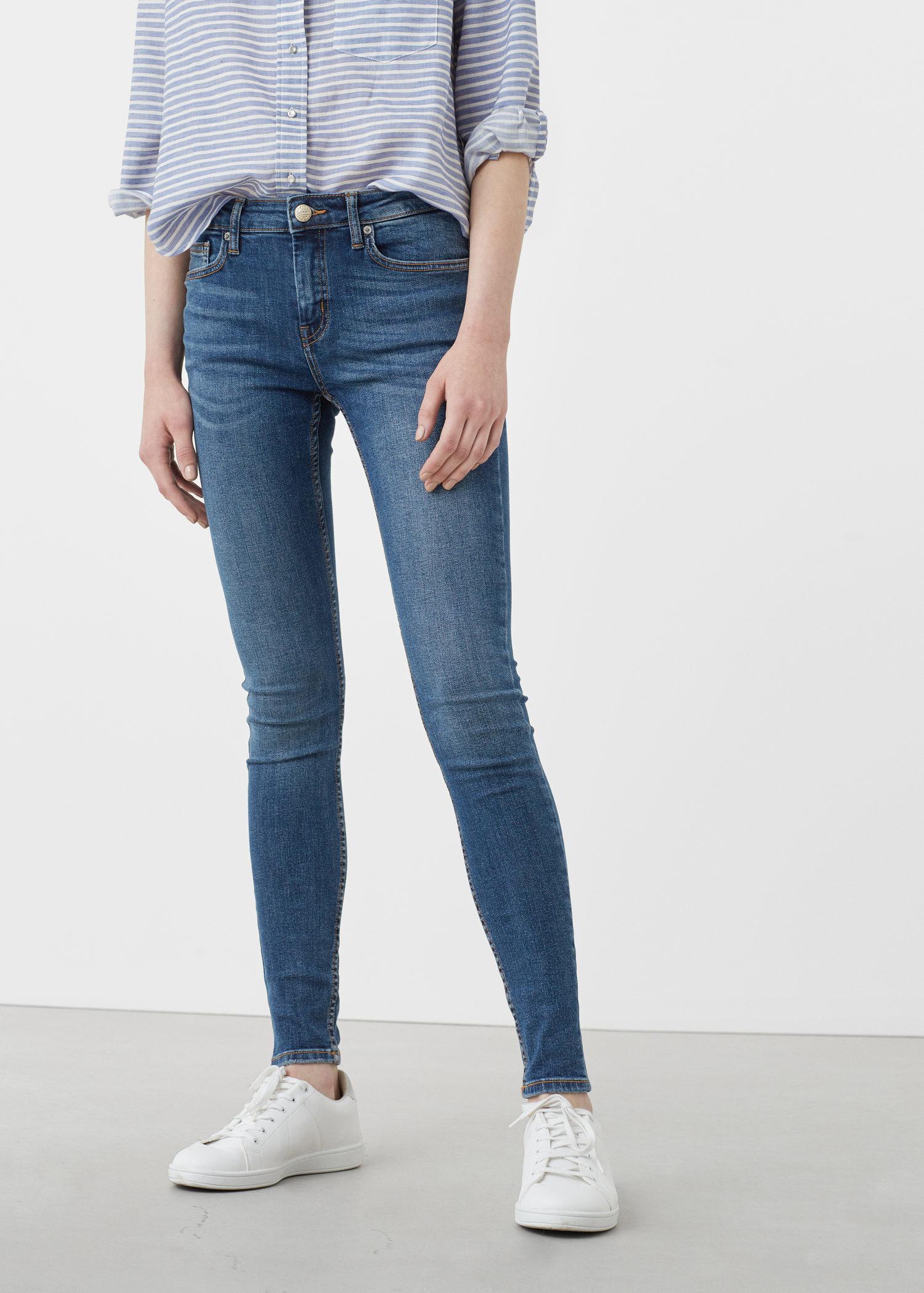 Womens Dark Skinny Jeans