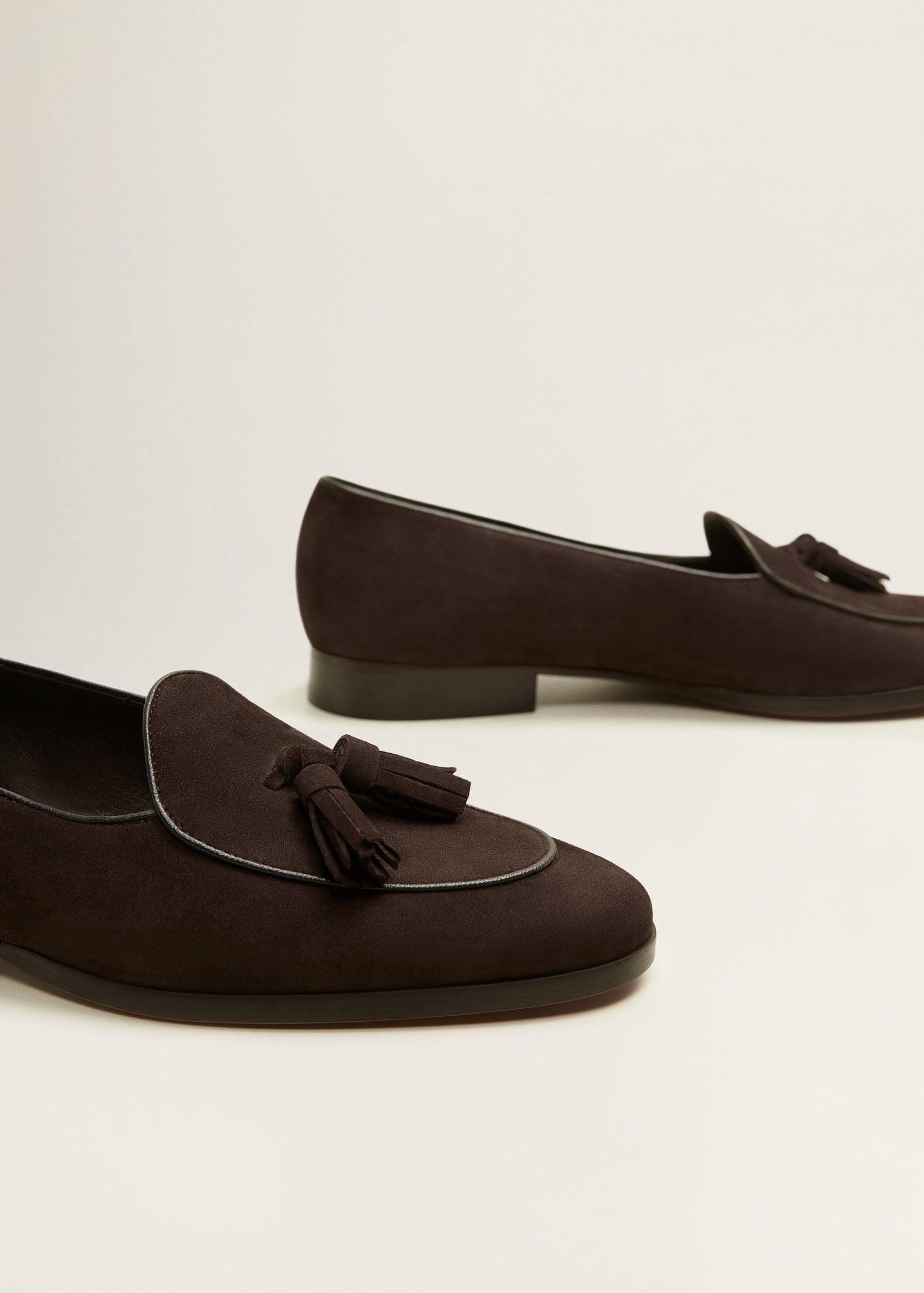121a6dbe365 Lyst - Mango Tassel Suede Loafers in Brown for Men