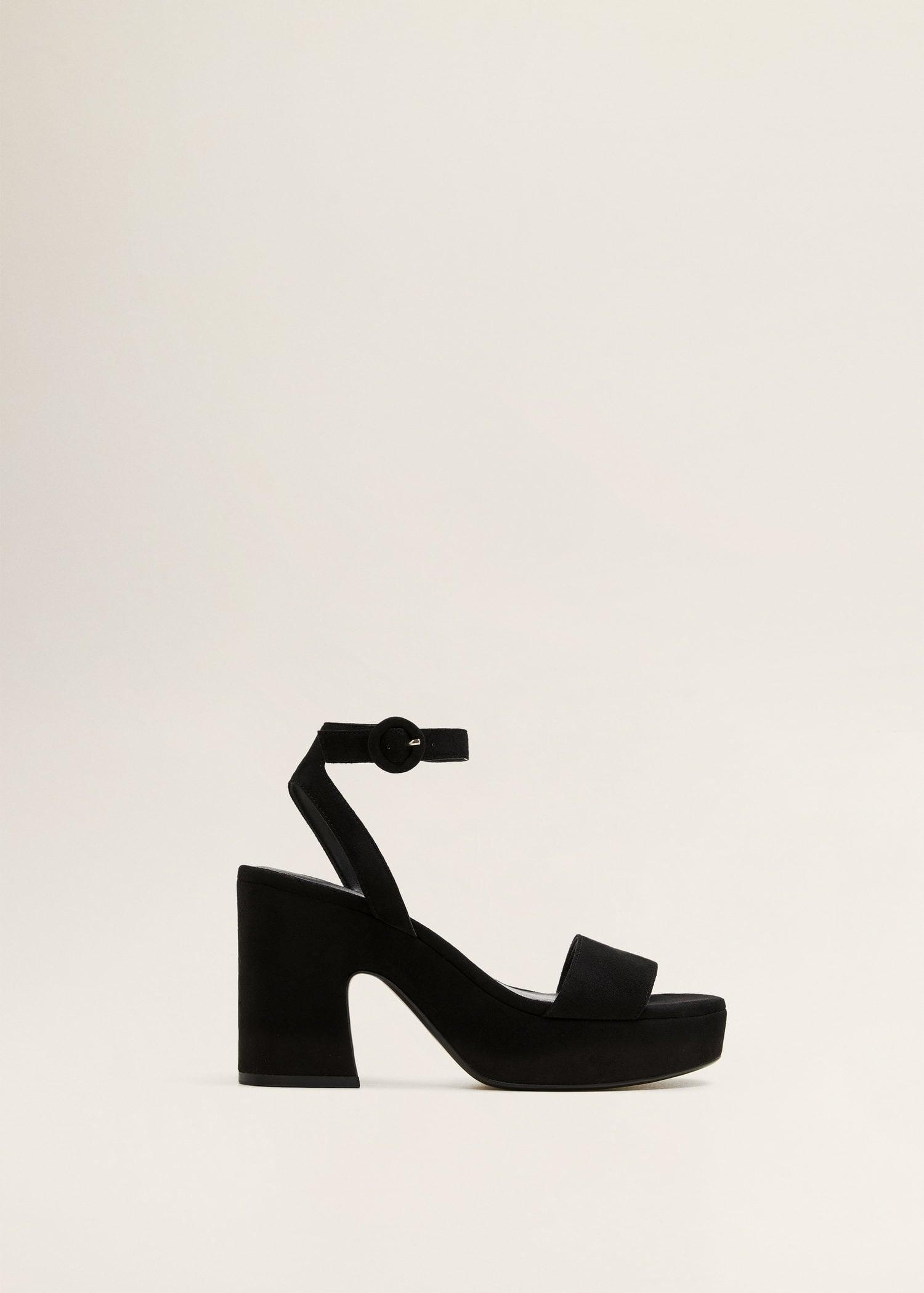 321bc8052181 Lyst - Mango Platfrom Ankle-cuff Sandals in Black