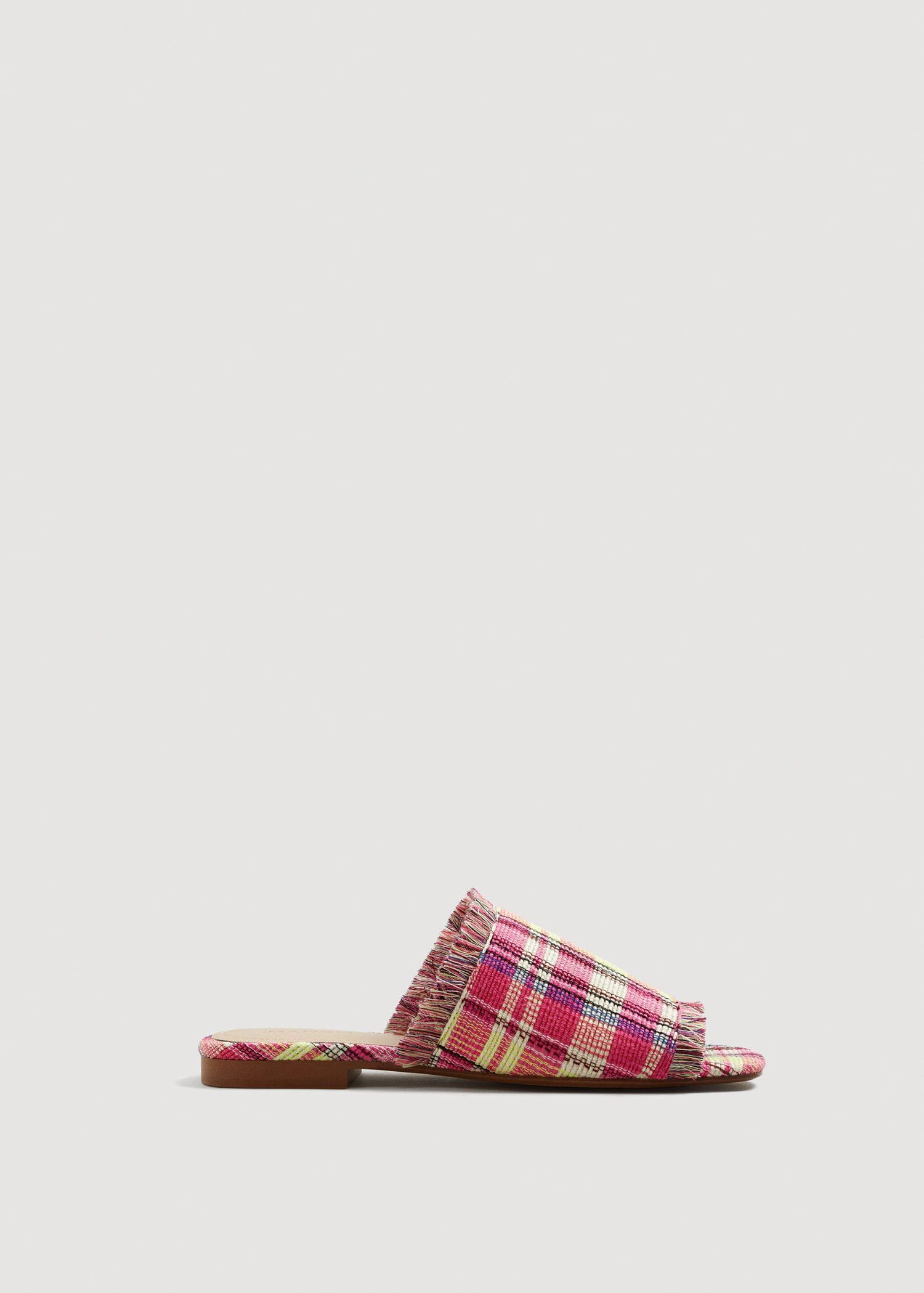 MANGO Check flat sandals 5dgl5By