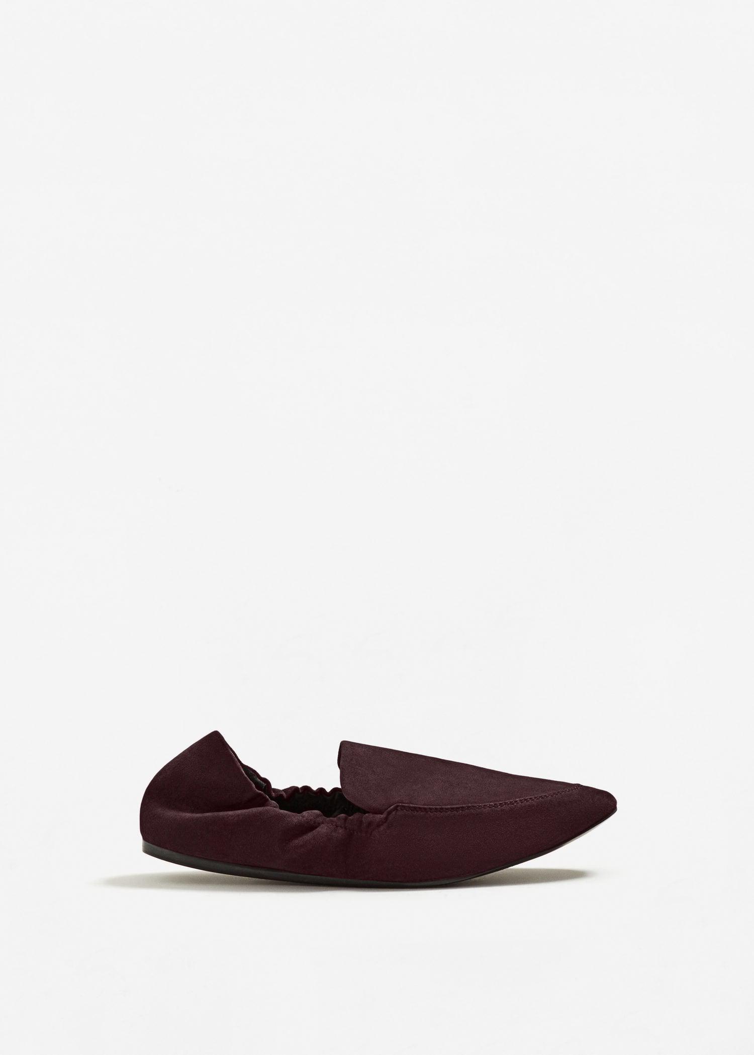 cda18b2c1a5c Mango Ruched Detail Shoes in Purple - Lyst