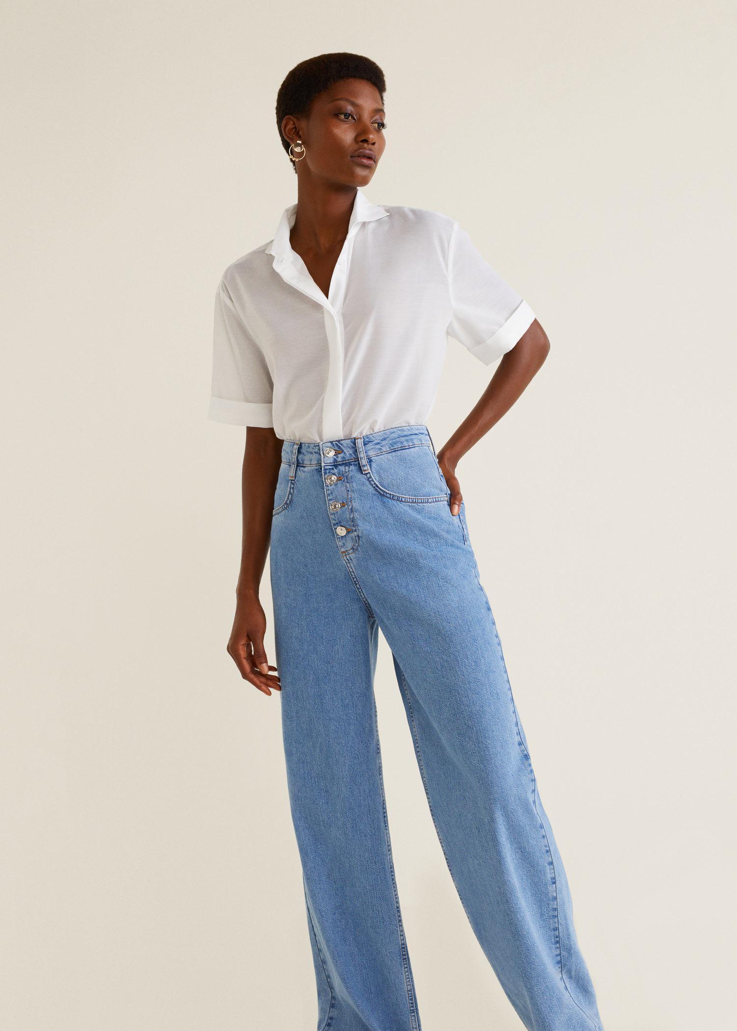 480345f678 Lyst - Mango Jeans Flare Wideleg in Blue