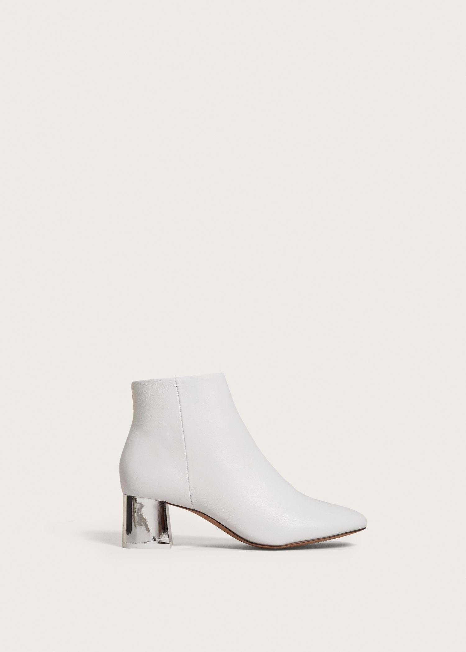 MANGO Metallic heel leather ankle boots iQbv6AjKI0