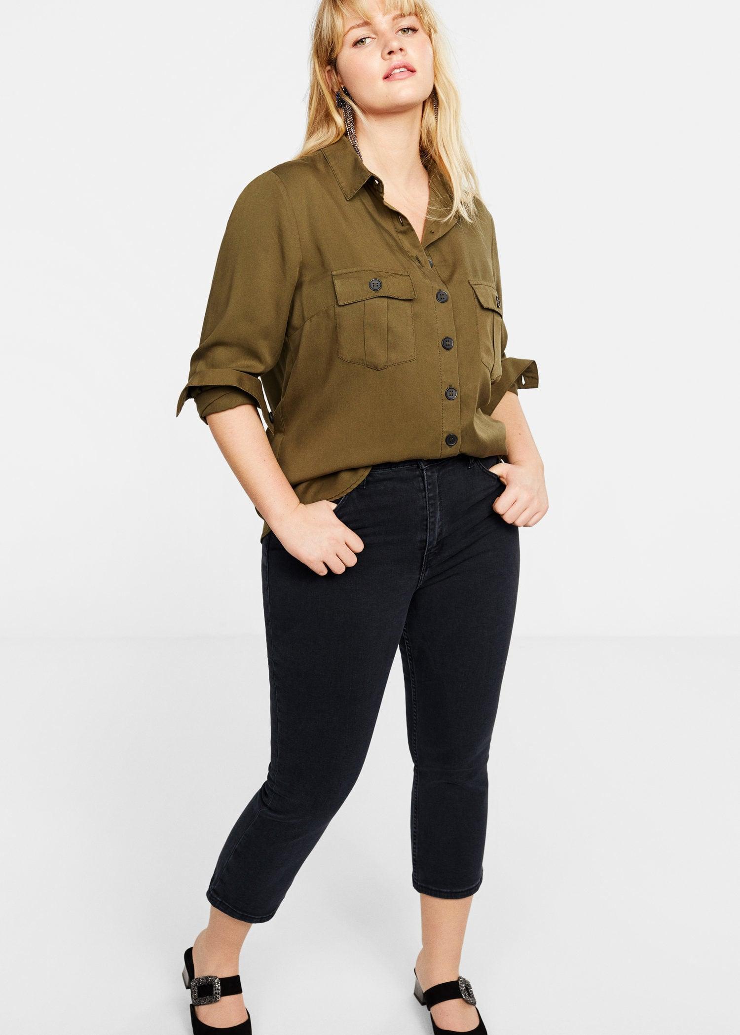 d02ab7d4ca5e Violeta by Mango Jandri Boot Cropped Jeans in Black - Lyst