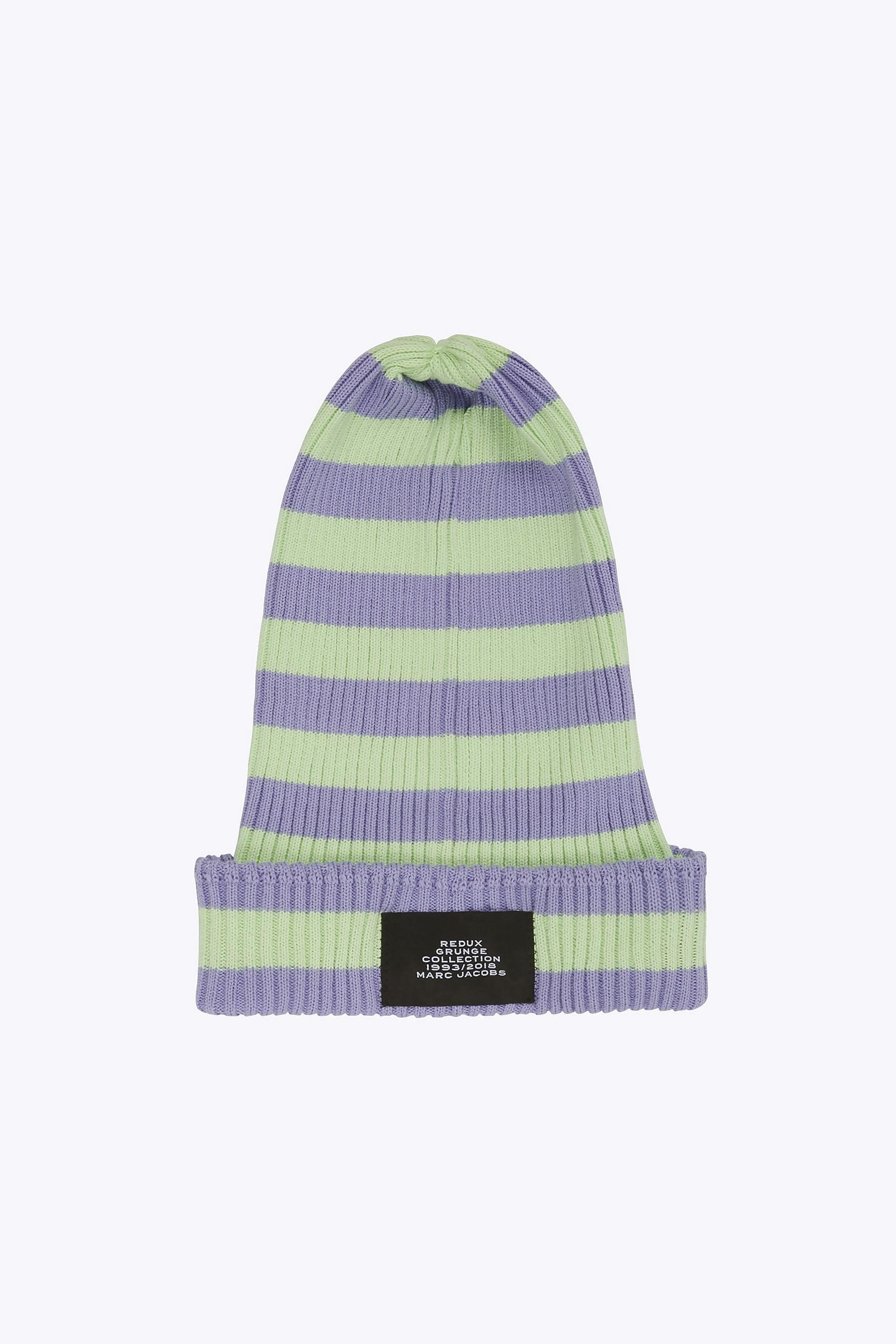 aeee8fdcae0 Marc Jacobs Thin-striped Knit Beanie - Save 23.15789473684211% - Lyst