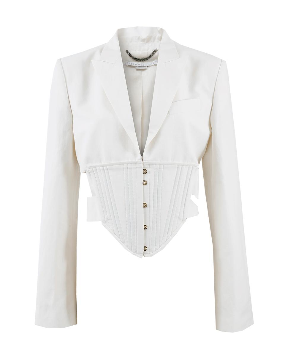 2fc530d38be Stella McCartney Abigail Corset Jacket in White - Lyst