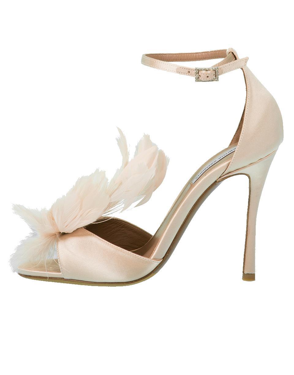 2ffab047d7f Lyst - Tabitha Simmons Avary Feather Ankle Wrap Heel