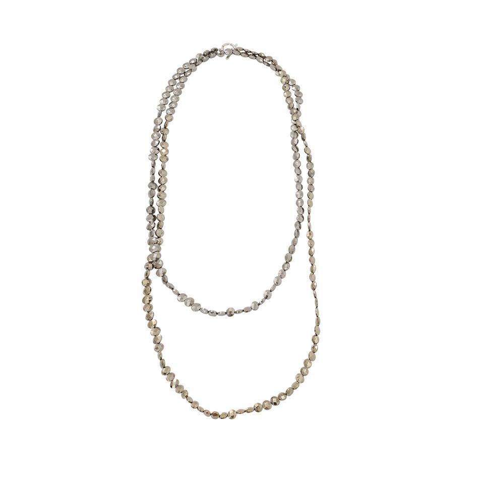 Brunello Cucinelli Silver Variegated Single Strand Lariat Necklace o0TVYS