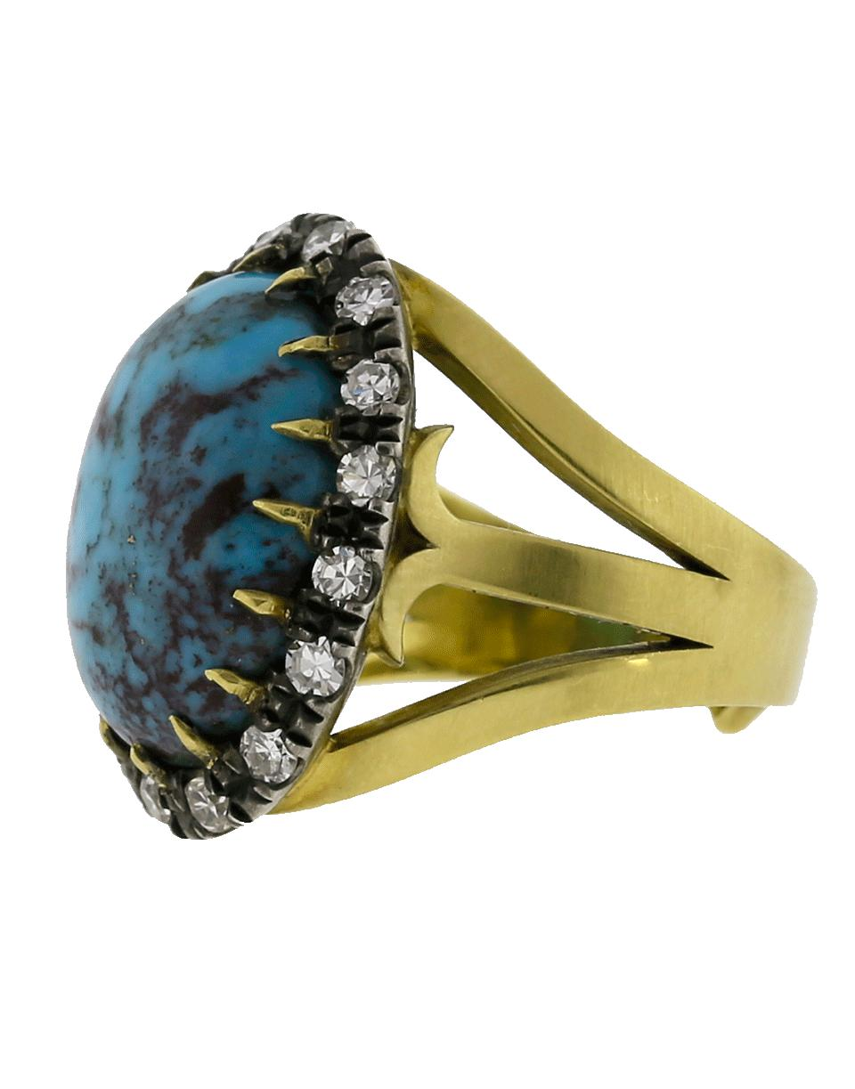 e6b1dbb8a37 Lyst - Sylva   Cie Oval Turquoise Ring