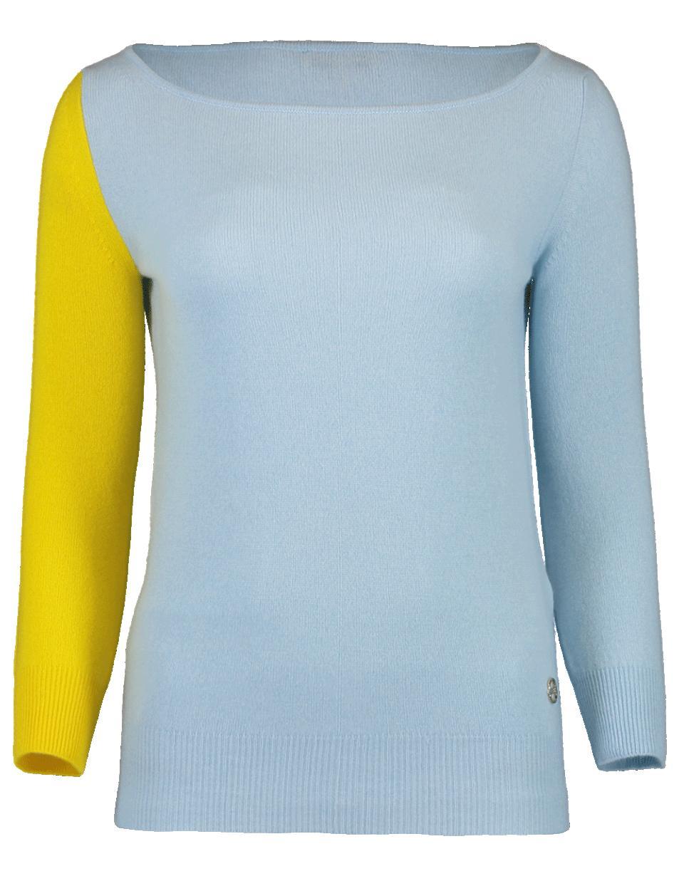fb2b862d33a0 Lyst - Emilio Pucci Bi-color Knit Pullover in Blue