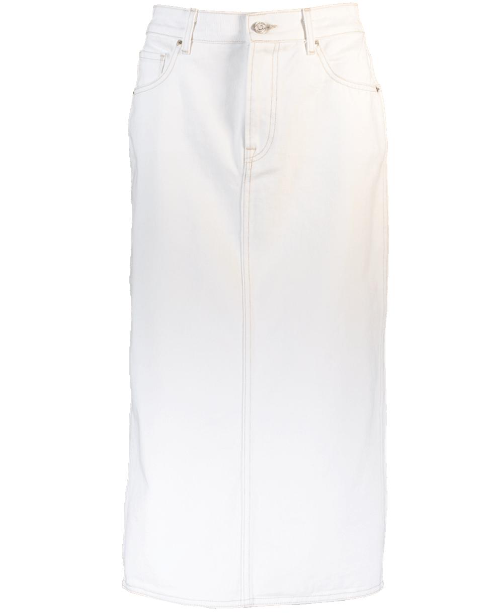 pencil denim skirt - White Oscar De La Renta Clearance In China t6FnZbEcD
