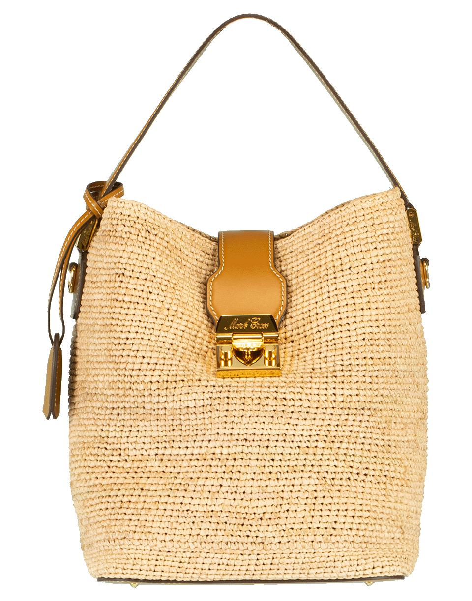 2b4da7433b Lyst - Mark Cross Murphy Raffia Shoulder Bag in Natural