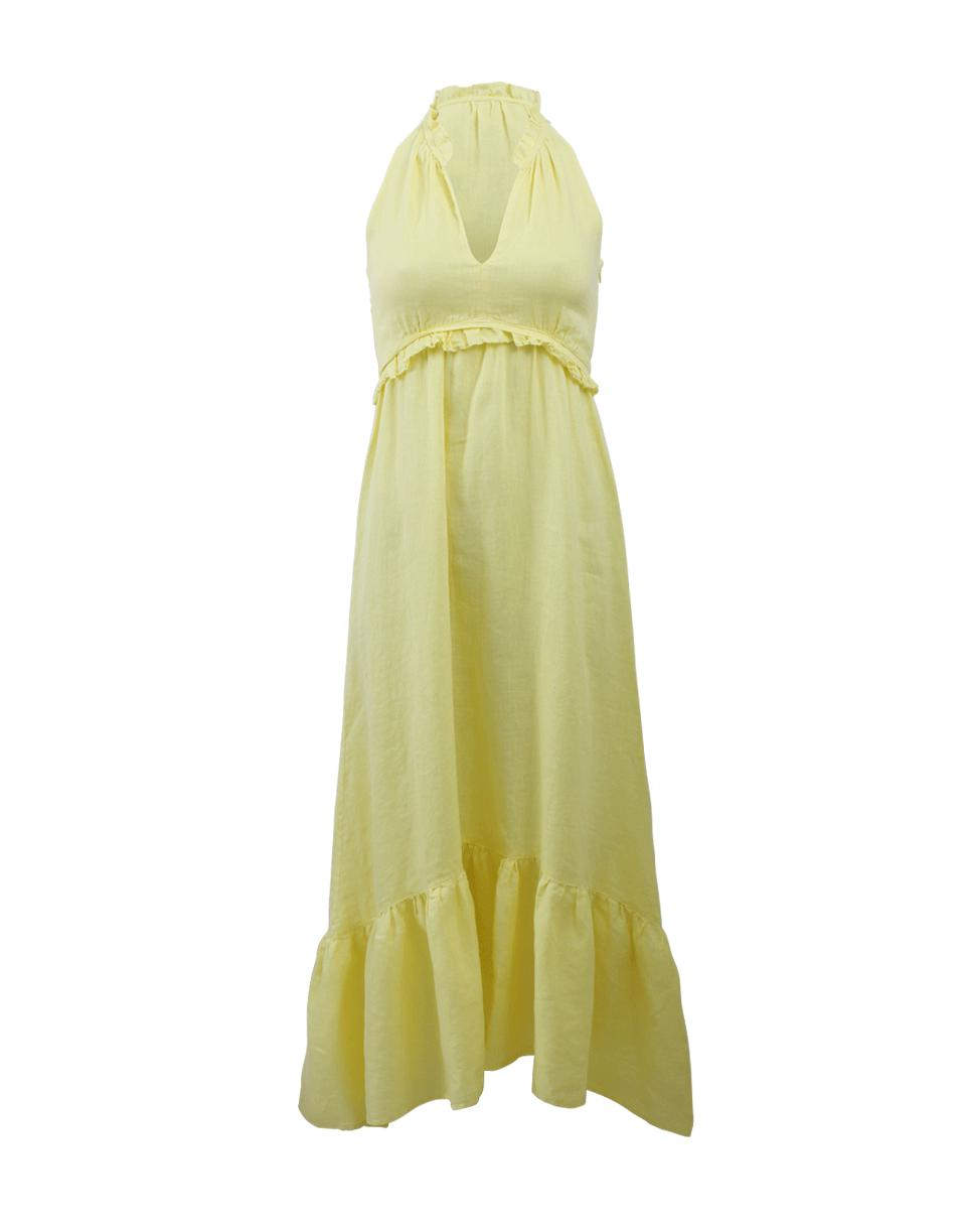ba4b6cd8e7 Lyst - 120% Lino Ruffle Detail Maxi Dress in Yellow