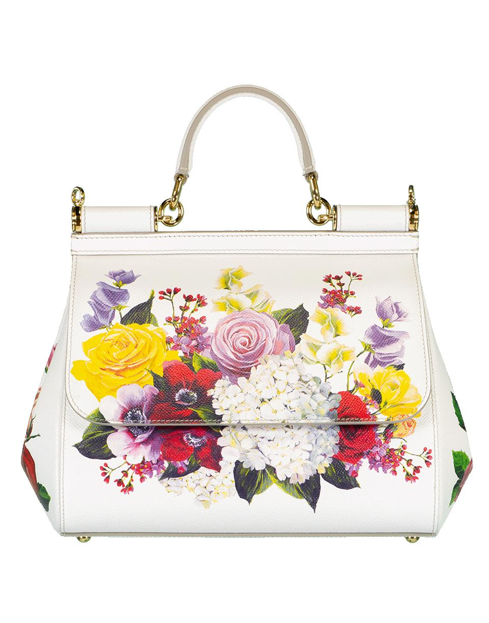 47bb2a58a68b Lyst - Dolce   Gabbana Sicily Medium Top Handle Floral Bag in Pink