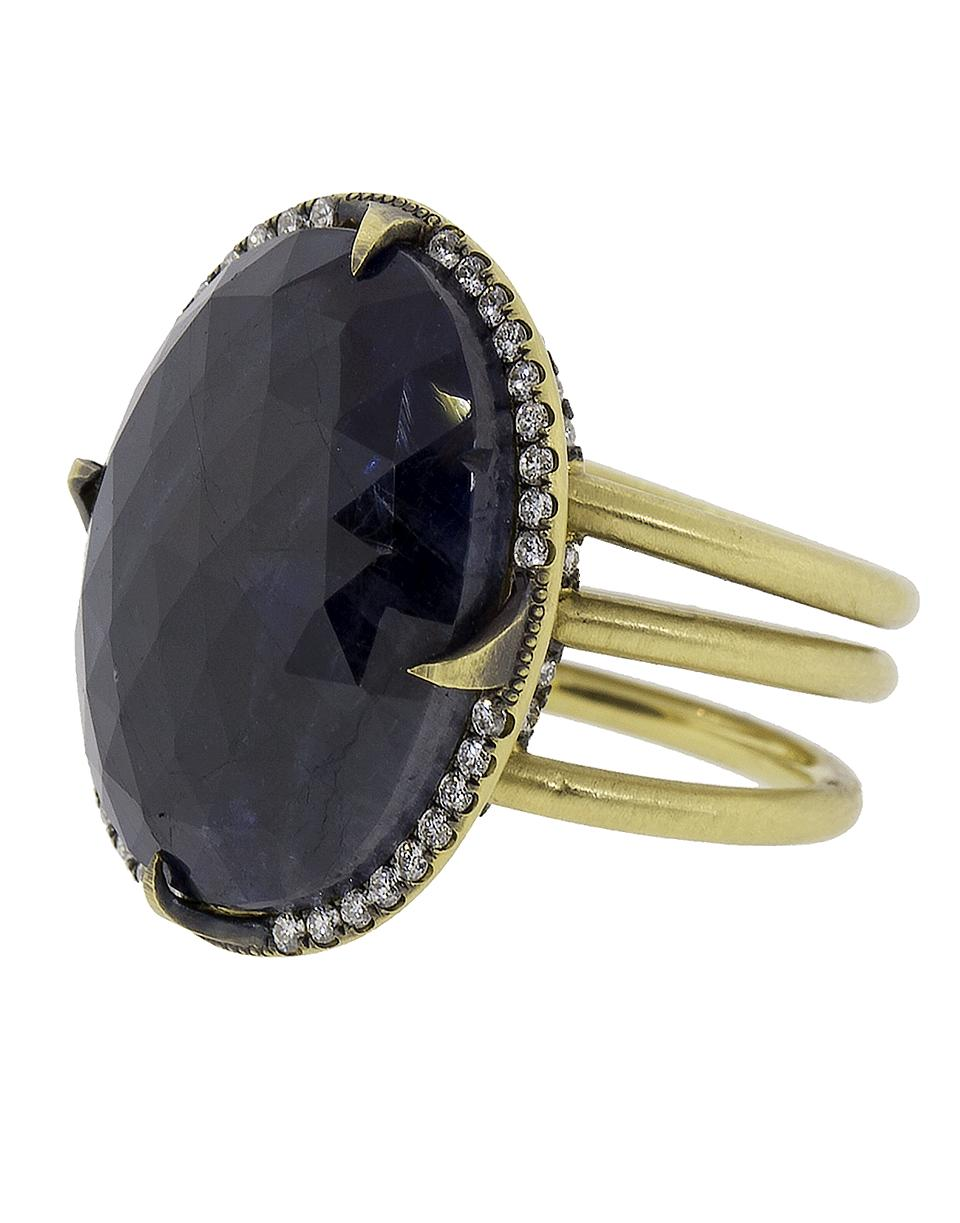 094cf7b8b57 Lyst - Sylva   Cie Oval Faceted Sapphire Ring