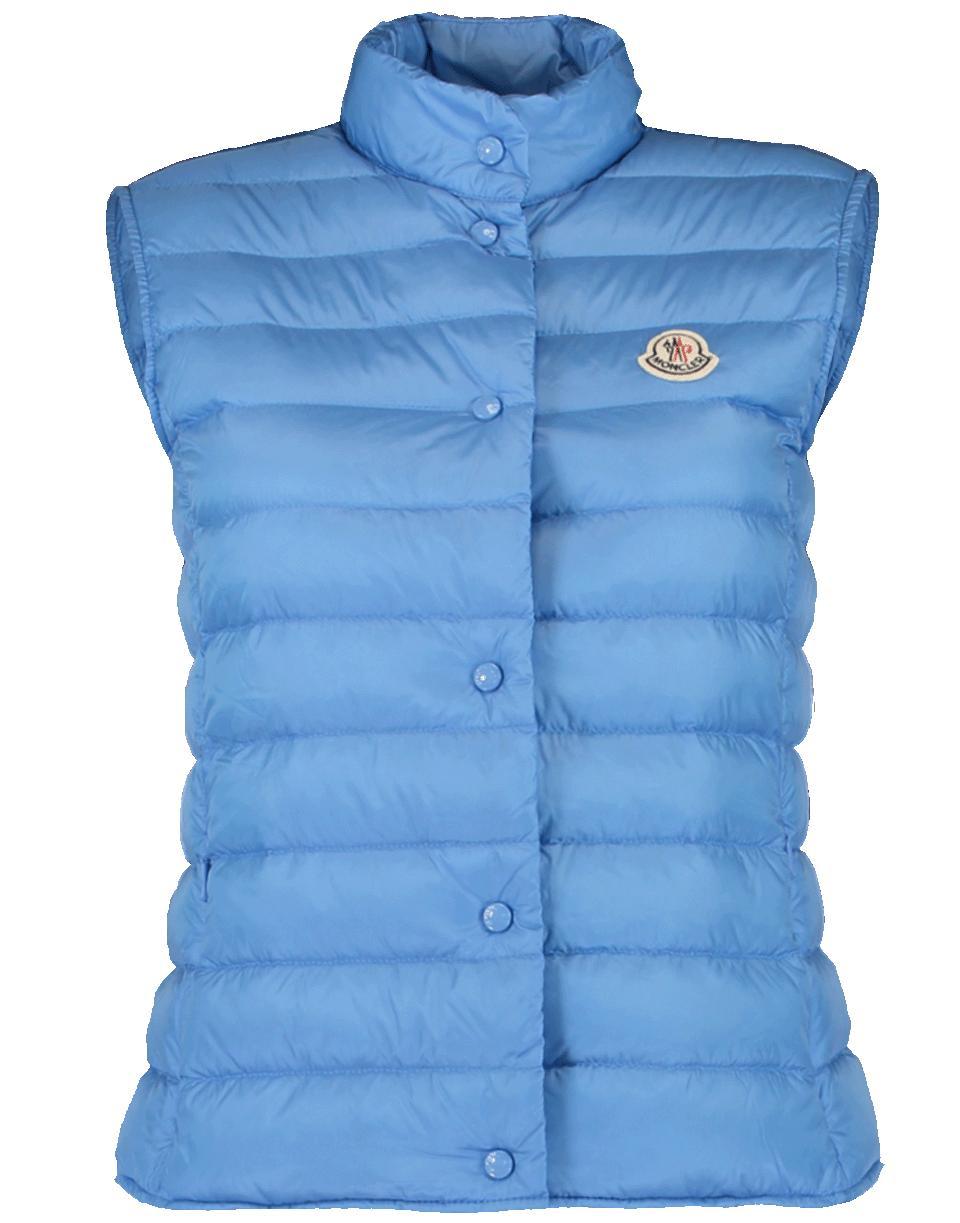 90c53d49f Moncler Liane Vest in Blue - Lyst