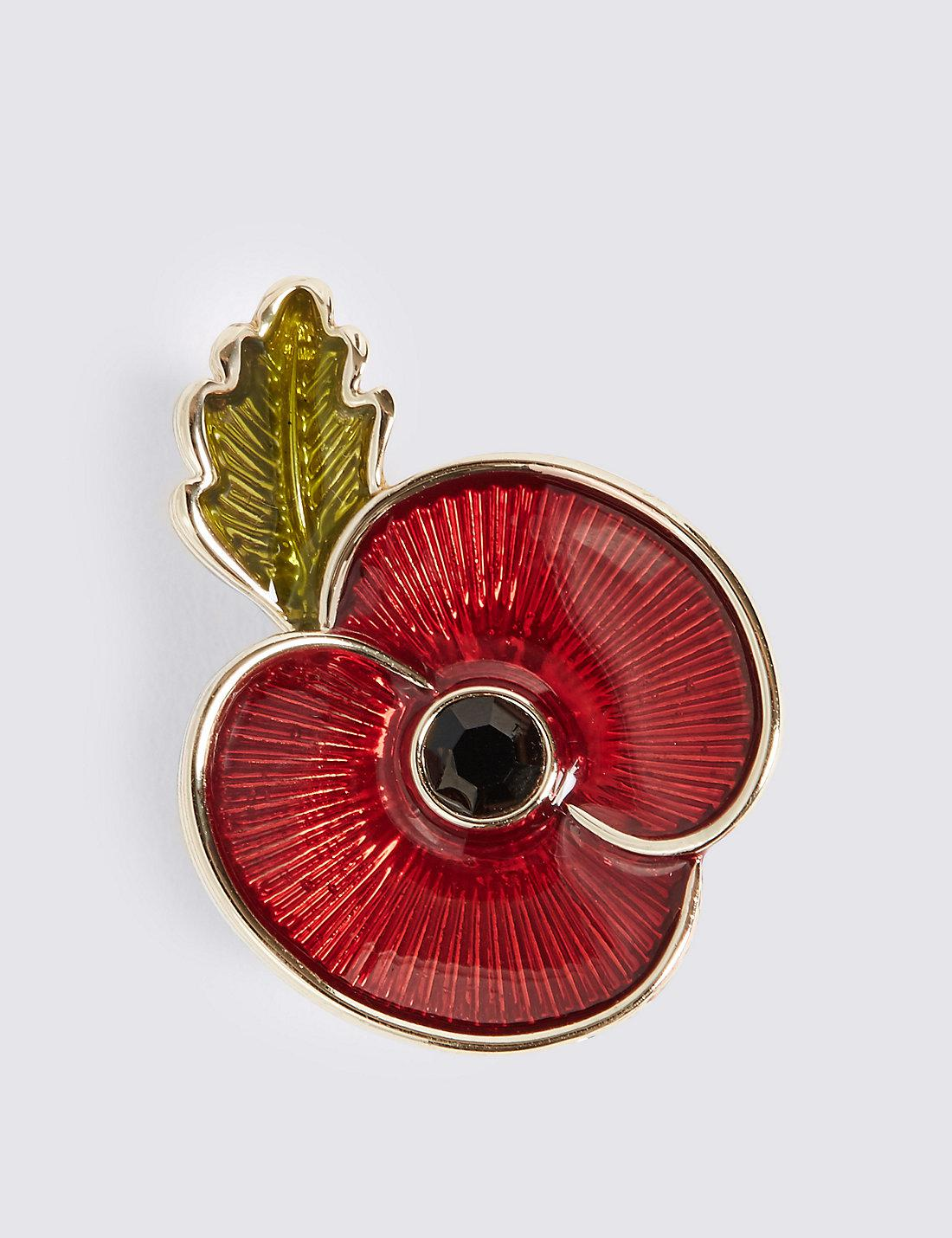 Marks & Spencer The Poppy Collection® Enamel Brooch in Red - Lyst